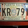 CONTROVERSIAL PUERTO RICO 5OTH ANNIVERSARY LICENSE PLATE FROM 2002