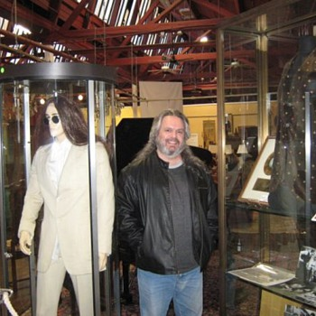 "Me with Lennon's""Abbey Road"" suit...and ""Imagine"" jacket... - Music"