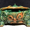 majolica baby elephant planter