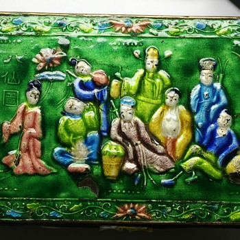 Enameled Brass Box