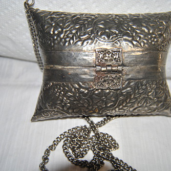 hand made silver purse late 1800&#039;s