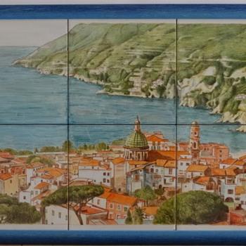 Vietri sul mare italian pottery, tiles, ceramics