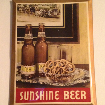 Sunshine Beer Tin Sign - Breweriana
