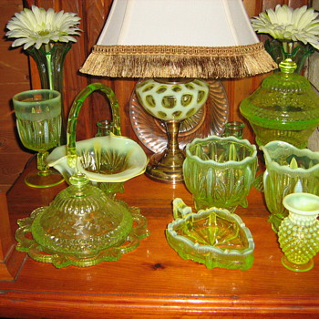 Various Fenton Cactus pieces and others...