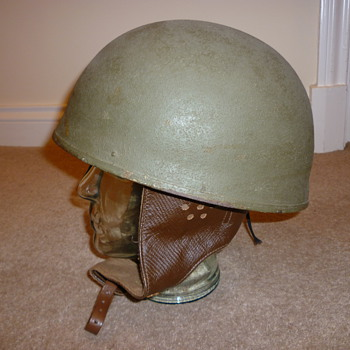 Near mint WW11 1944 British Dispatch riders helmet