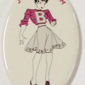 Philadelphia High School Comic Character Pinback