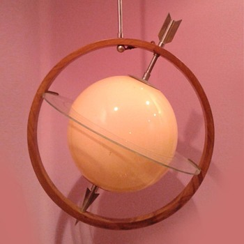 "Italian art dèco ""Saturno""  lamp. Gio Ponti and Pietro Chiesa, ca. 1933"