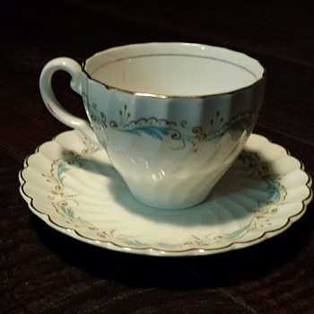 Snowhite & Regency - Johnson Bros Tea Cup and Saucer B1 - China and Dinnerware