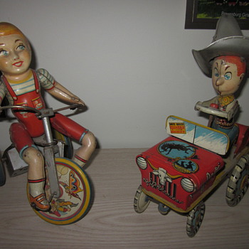 1950's Tin Litho Wind Ups - Games