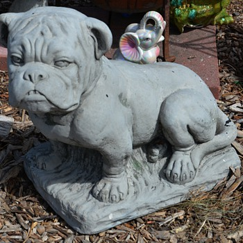 Old and Large Cement / Cast Stone Bulldog - how old?