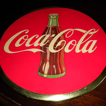 c 1950s Coca Cola Advertising Sign - Coca-Cola