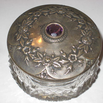 Amathyst Jar crystal - Silver