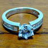 Cubic Zirconia &amp; Sterling Silver Ring