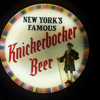 Knickerbocker Beer Motion Sign 1952 - Breweriana