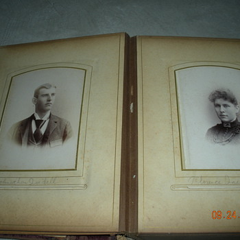 Vintage Picture photo album cardboard - Photographs