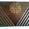 Shou wooden box with copper metal linings