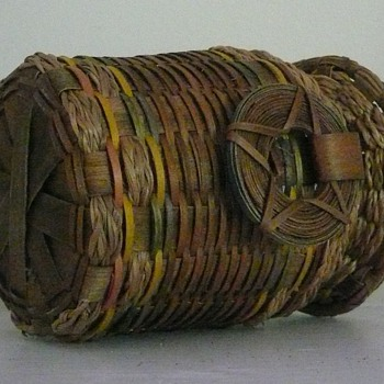 Native American Sweetgrass Basket - Native American