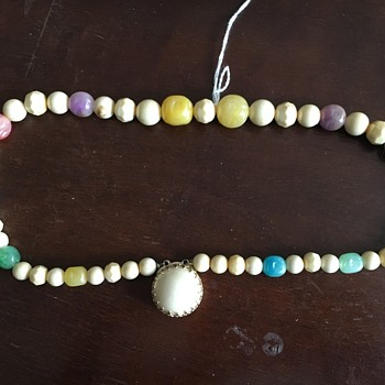 Beaded Necklace With Pendant - Costume Jewelry