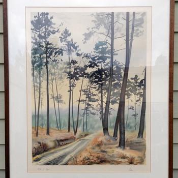 Vintage Japanese Shin-hanga Landscape Print - Visual Art