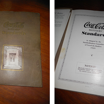 Coca-Cola Bottlers' 1929 Standards Book - Coca-Cola