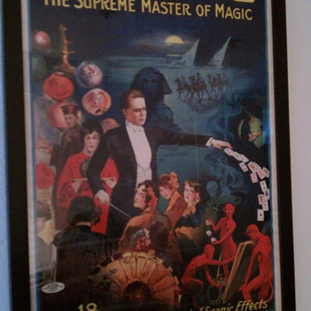 Original George &quot;The Supreme Master of Magic&quot; Stone Lithograph Posters