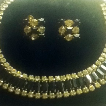 Choker and Earring Set by Elgin American - Costume Jewelry