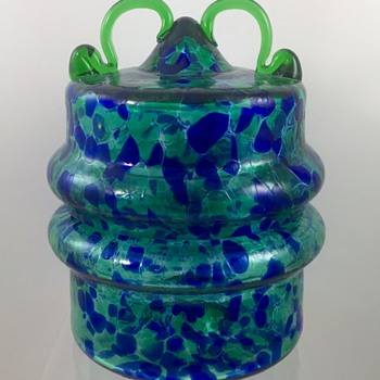 Vladimir Jelinek (b. 1934) Covered Glass Jar for Crystalex, Novy Bor, signed limited edition, ca. 1990