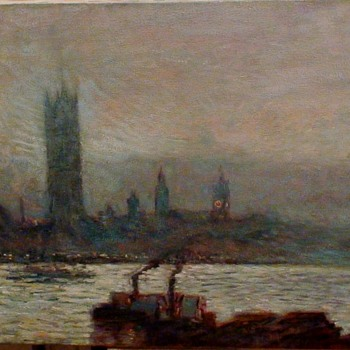 """Frederick """"Childe"""" Hassam """"House Of Parliament Early Evening"""" Reproduction - Visual Art"""