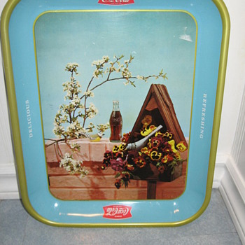 Coca Cole Birdhouse Tray