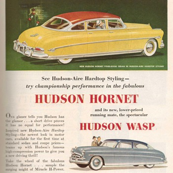 1952 - Hudson Hornet Advertisement