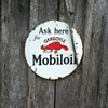GARGOYLE MOBIL OIL SIGN.. METAL
