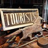 Antique Tourist Sign and Copper Horse Weathervane