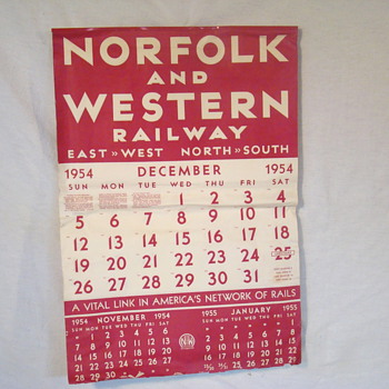 Norflok and Western Calendar - Railroadiana