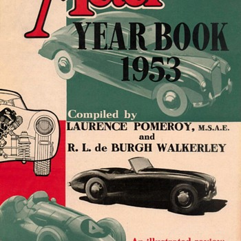 "1953 - ""The Motor Yearbook"" Advertisement Flyer - Classic Cars"