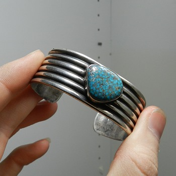My NAVAJO Cuff Bracelet - Great Turquoise!