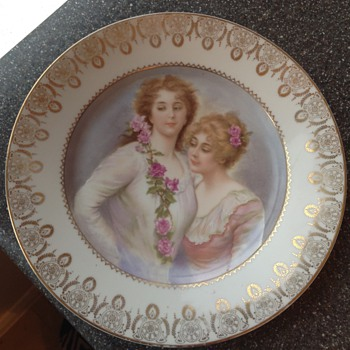 Karlsbad Knoll, hand painted & transfer decorated porcelain plate