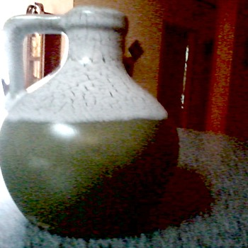 Pigeon Forge Pottery / Little Jug with Two Tone Glaze / Circa 19?? - Art Pottery