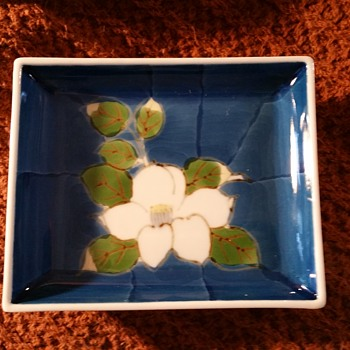 Blue and White Arita/Imari Small Square Plates