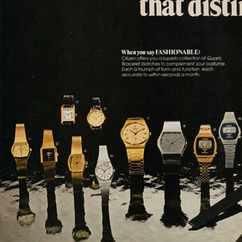 1978 Citizen Wristwatches Advertisement - Advertising