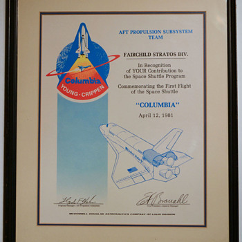 A piece of the Space Shuttle 'Columbia' - Military and Wartime