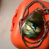 Labradorite & Sterling Pendant + Sterling Silver Dragon With Crystal Ball, Thrift Shop Finds