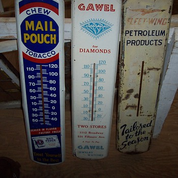 Gawel jewelers tin advertising thermometer - Advertising