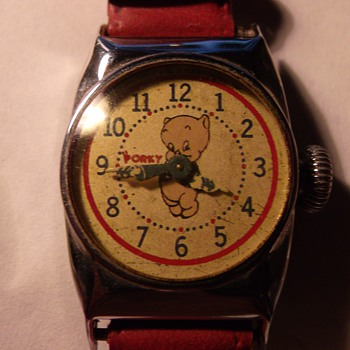 "E. Ingraham ""Porky Pig"" Wrist Watch - Wristwatches"