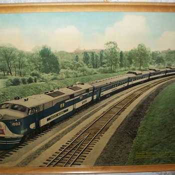 Wabash Blue bird print - Railroadiana