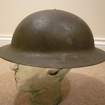 Superb condition WWI American (I think) steel helmet