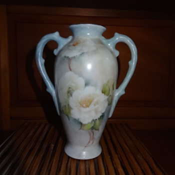 B. Woods floral vase - Art Pottery