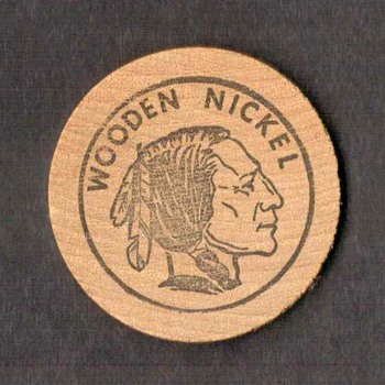 Wooden Nickel - Video Palace, Wood-ridge, NJ - Advertising