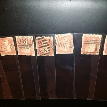 Red Penny Stamps dated