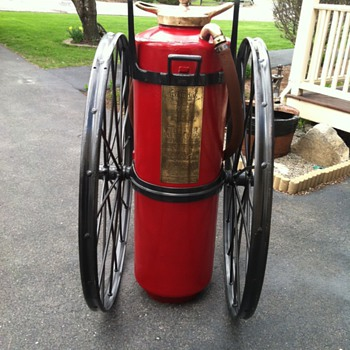 1910 Foamite Chemical Cart - Firefighting