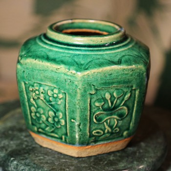 Large Green Ginger Jar - Asian